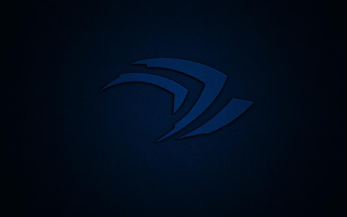 Descargar Fondos De Pantalla Nvidia Logo Azul 4k Azul