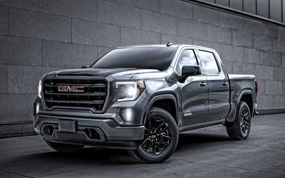 2020, GMC Sierra 1500, exterior, front view, new gray pickup truck, new gray Sierra 1500, american cars, GMC