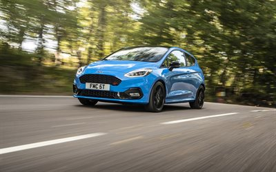 Ford Fiesta ST Edition, 2020, exterior, front view, new blue Fiesta, american cars, tuning Fiesta, Ford