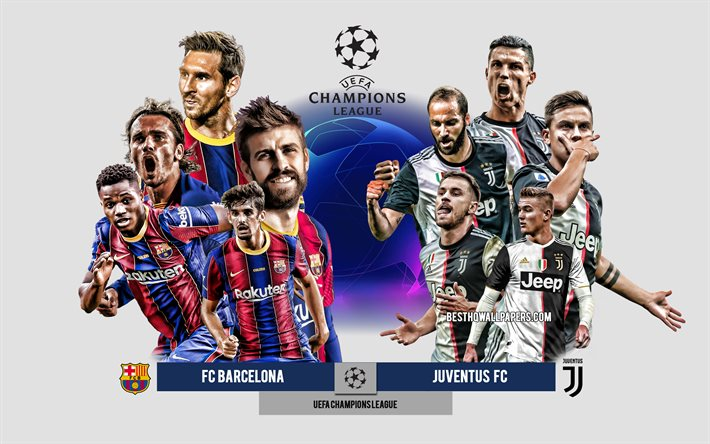 Download Wallpapers Fc Barcelona Vs Juventus Fc Group G Uefa Champions League Preview Promotional Materials Football Players Champions League Football Match Juventus Fc Fc Barcelona For Desktop Free Pictures For Desktop Free