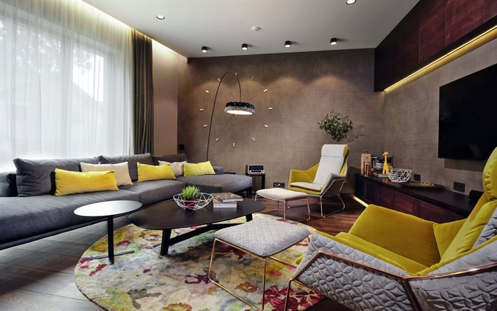 modern interior, living room, sofa, living room design
