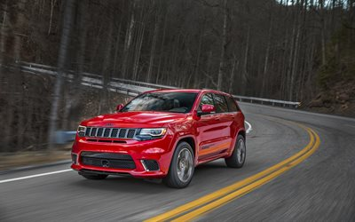 Jeep Grand Cherokee Trackhawk, Suv, 2018 auto, movimento, USA, Jeep