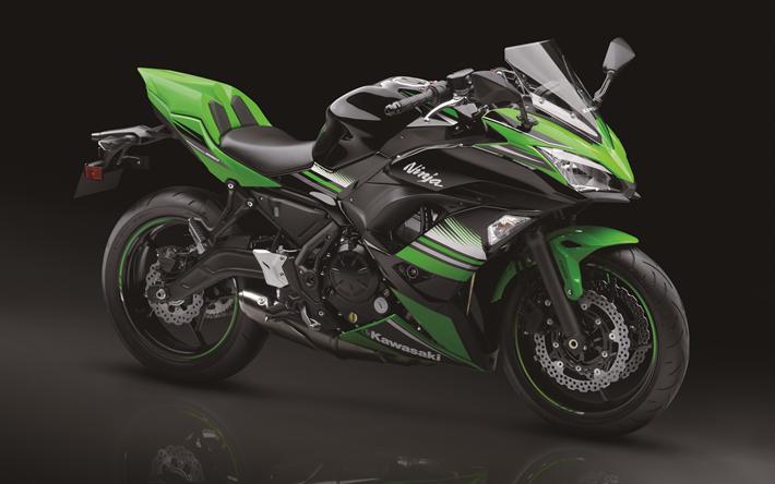 Scarica Sfondi 4k, Kawasaki Ninja 650 ABS, Moto Sportive