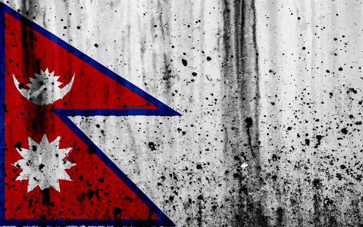 Download Wallpapers Nepali Flag 4k Grunge Flag Of Nepal