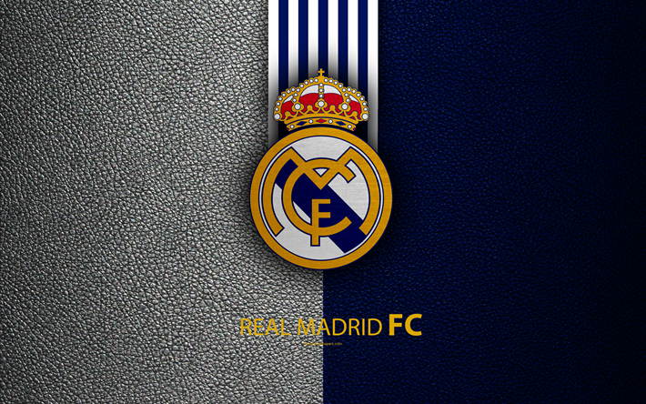 Download wallpapers real madrid fc 4k spanish football club la real madrid fc 4k spanish football club la liga logo real voltagebd Choice Image