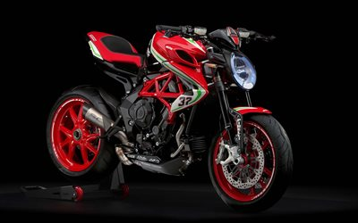 MV Agusta Dragster 800 RC, studio, 2019 bikes, red motorcycle, MV Agusta