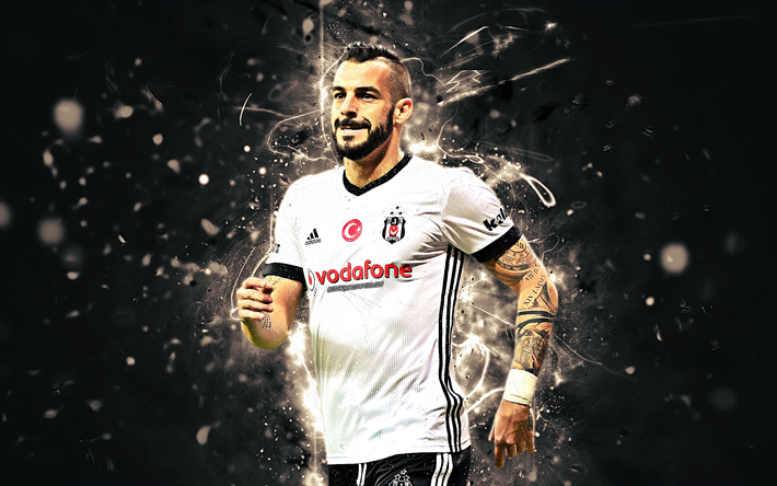 Alvaro Negredo, spanish footballers, Besiktas FC, forward, soccer, Negredo, Turkish Super Lig, BJK, football, neon lights, Besiktas JK