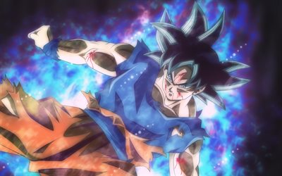 4k, Dragon Ball Super, Goku, smoke, DBS, characters, Son Goku