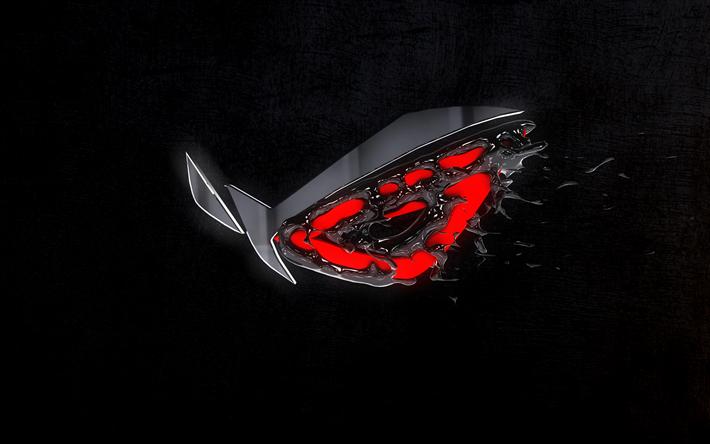 Indir Duvar Kağıdı Oyuncular Cumhuriyeti 4k Sus 3d Logo Koyu