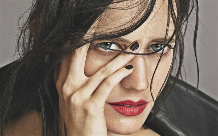 Eva Green, portrait, french actress, makeup, beautiful eyes, Hollywood star, face, photoshoot