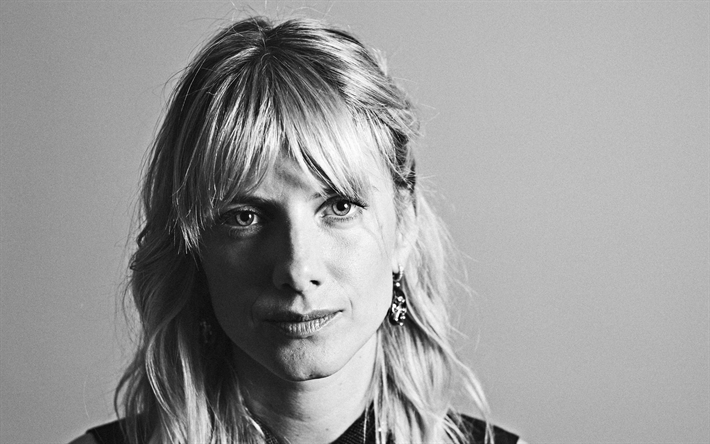 Melanie Laurent, french actress, celebrity, photoshoot, portrait, monochrome