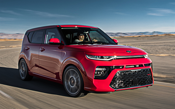 2020, Kia Soul, 4k, front view, exterior, new red Soul, Korean cars, Kia