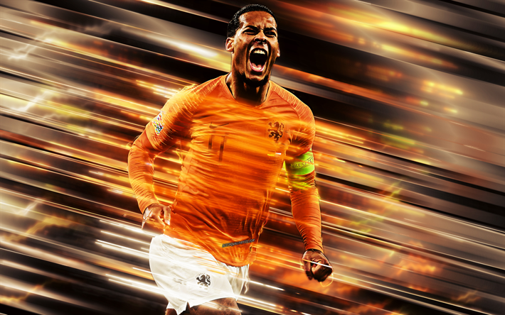 Download Wallpapers Virgil Van Dijk, Netherlands National