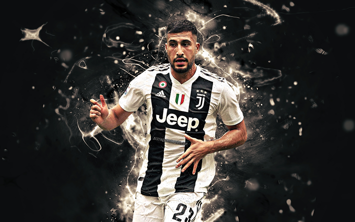 Emre Can, match, Juventus FC, german footballers, JUVE, soccer, Serie A, Can, neon lights, Bianconeri