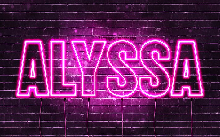 Download wallpapers Alyssa, 4k, wallpapers with names ...