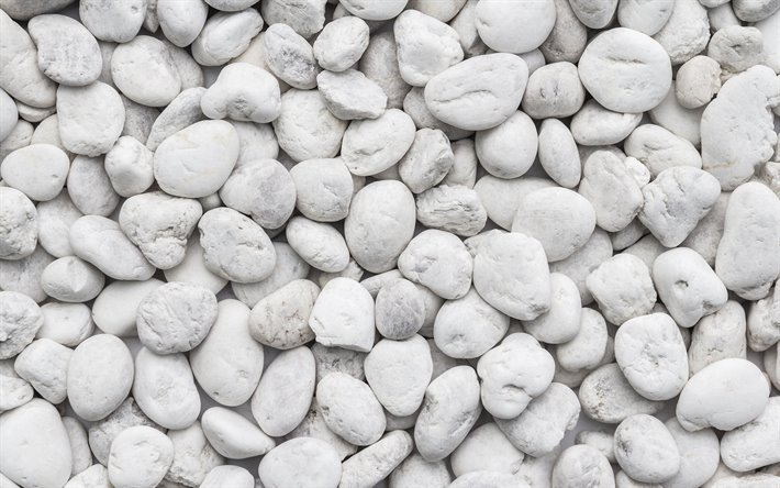 Scarica sfondi ciottoli bianchi 4k macro bianco pietra for Ciottoli bianchi