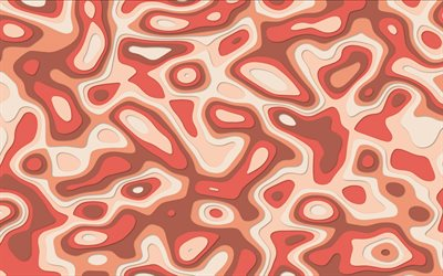 red abstract background, 3d abstract background, red-orange mosaic, creative red background