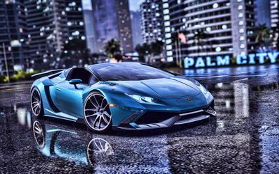 Lamborghini Huracan, 4k, Need for Speed Heat, 2019 games, racing simulator, NFSH, Need for Speed, NFS