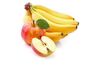 fruit, apple, banana, ripe apple