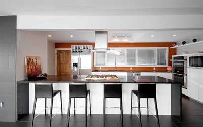kitchen, modern kitchen design, hi-tech