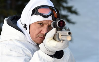 Wind River, 2017, Jeremy Renner, Trailer, sniper, winter camouflage suit