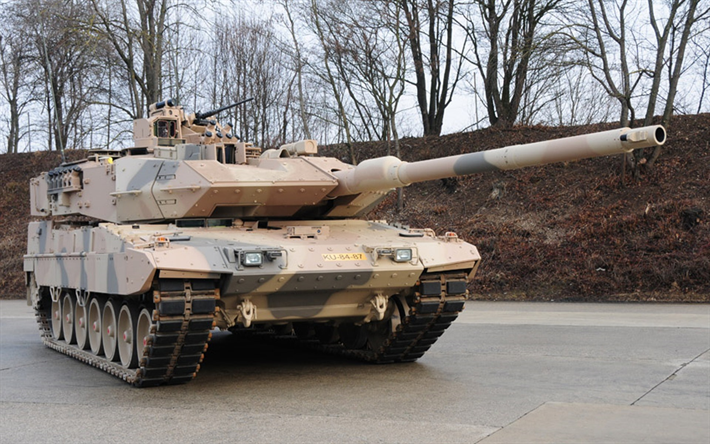 Leopard 2A7, German Main Battle Tank, sand camouflage, tanks, German Army, Bundeswehr, Leopard 2, Germany