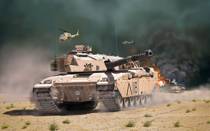 Challenger 1, desert, tanks, British MBT, British Army, sand camouflage, The FV40304 Challenger 1, armored vehicles