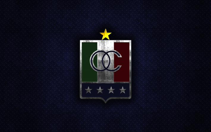 Descargar Fondos De Pantalla Once Caldas Club De Futbol Colombiano De Metal Azul Textura De Metal Logotipo Emblema Manizales Colombia La Liga Aguila Creativo Arte Futbol Libre Imagenes Fondos De Descarga Gratuita