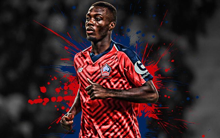Download Wallpapers Nicolas Pepe, 4k, Ivorian Football