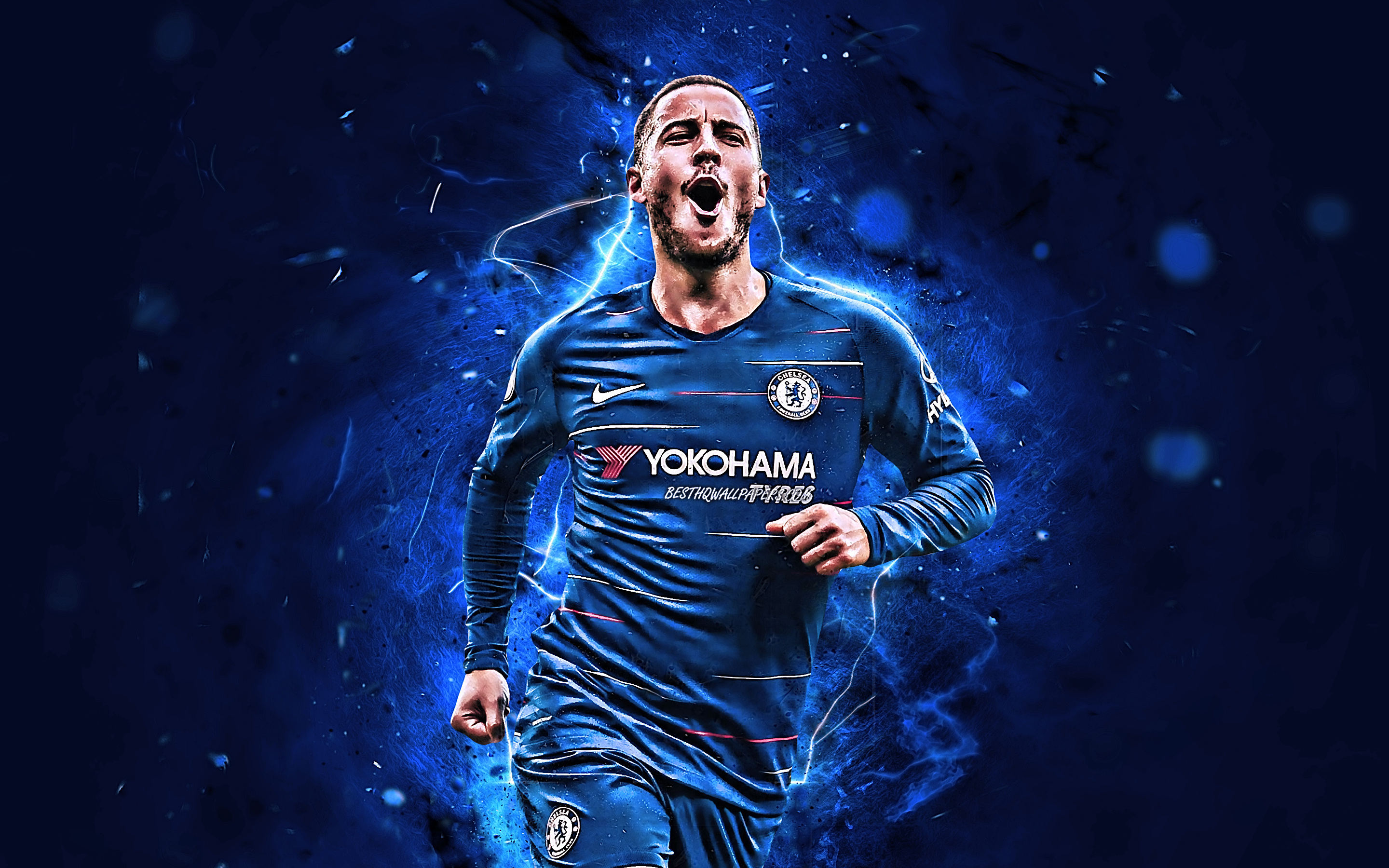 Download wallpapers Eden Hazard, abstract art, Chelsea FC ...