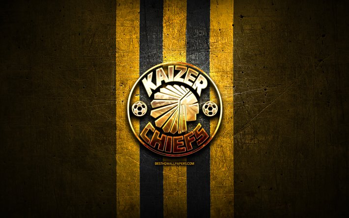Download Wallpapers Kaizer Chiefs Fc Golden Logo Premier Soccer League Yellow Metal Background Football Kaizer Chiefs Psl South African Football Club Kaizer Chiefs Logo Soccer South Africa For Desktop Free Pictures For