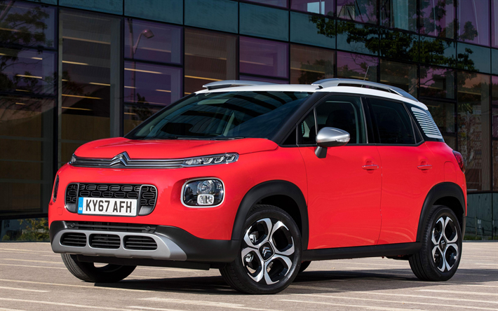 download wallpapers citroen c3 aircross 2018 cars crossovers red c3 aircross citroen for. Black Bedroom Furniture Sets. Home Design Ideas