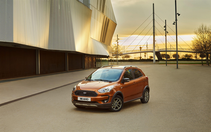 Download Wallpapers Ford Ka Active 4k 2018 Cars Compact Cars