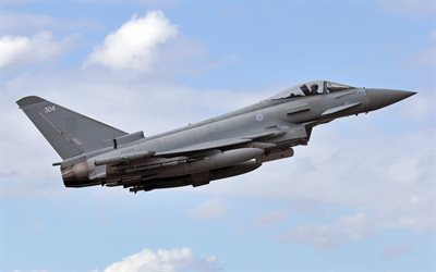 Eurofighter Typhoon, fighter, military aircraft, combat aviation, FGR4, Royal Air Force, RAF, Eurofighter GmbH