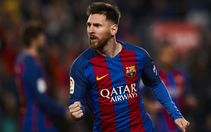 Download Wallpapers 4k Lionel Messi 2018 Goal Fc