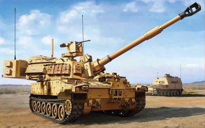 M109 howitzer, Paladin, M109A6, modern military equipment, artillery, 155mm Self-Propelled Howitzer, US Army, USA