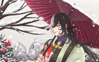 Ashiya Douman, snowfall, TYPE-MOON, Fate Grand Order, Alter Ego-class, winter, manga, Fate Series, Ashiya Doman