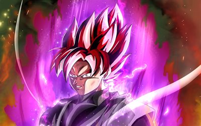 Noir Goku de Dragon Ball, de l'art abstrait, DBS, antagoniste, Dragon Ball, sangoku Noir, Dragon Ball Super, DBS personnages, Goku Burakku, Noir Goku DBS, Super Saiyan Rose, Noir Goku