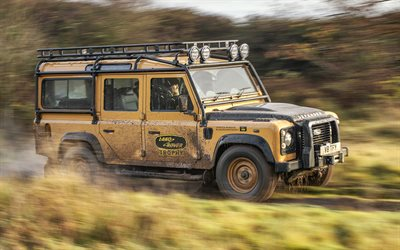 2022, Land Rover, Defender Works V8 Trophy, 4k, front view, SUV, tuning Defender, British cars