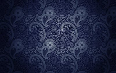 blue paisley texture, blue paisley ornament, paisley pattern, paisley texture, blue paisley background, paisley ornament
