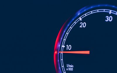 4k, tachometer, minimal, dashboard, night