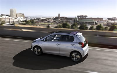 Peugeot 108, 2018, compact hatchback, new silver 108, french cars, Peugeot