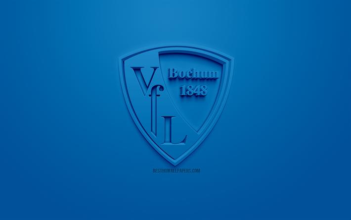 Download Wallpapers Vfl Bochum Creative 3d Logo Blue Background 3d Emblem German Football Club Bundesliga 2 Bochum Germany 3d Art Football Stylish 3d Logo For Desktop Free Pictures For Desktop Free