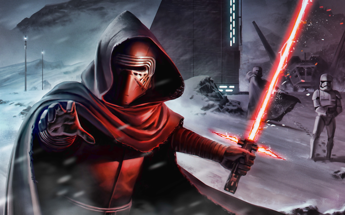Download Wallpapers Kylo Ren 4k Star Wars Characters Artwork Star Wars For Desktop Free Pictures For Desktop Free