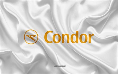 Condor Airlines logo, metal emblem, apparel brand, black carbon texture, global apparel brands, Condor Airlines, fashion concept, Condor Airlines emblem