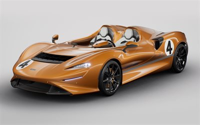 2020, McLaren Elva M6A Theme, MSO, 4k, roadster, bronze coupe, new bronze Elva, British sports cars, McLaren
