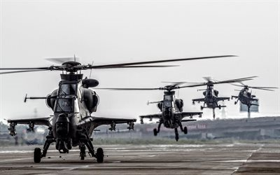 Attack helicopter, CAIC WZ-10, army, combat helicopters, China Air Force