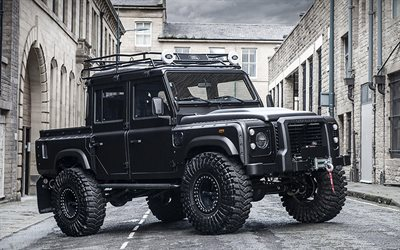 Land Rover Defender Big Foot, tuning, 4x4, 2018 coches, Proyecto de Kahn, SUVs, Land Rover Defender, Land Rover