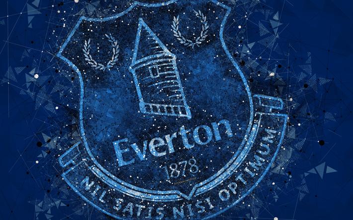 Download wallpapers Everton FC, 4k, creative geometric ...