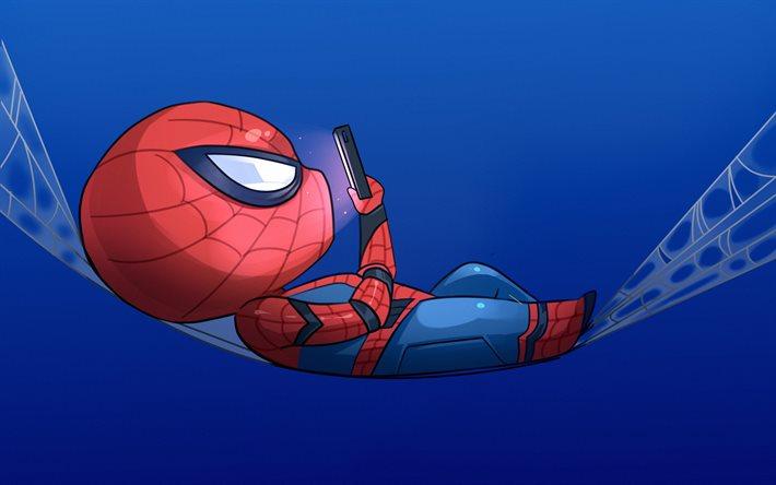 Download Wallpapers Spiderman Minimal Spider Man Fan Art
